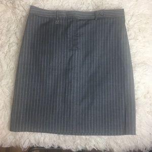 Michael Michael kors gray striped pencil skirt